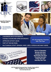10%off Immigration Physicals