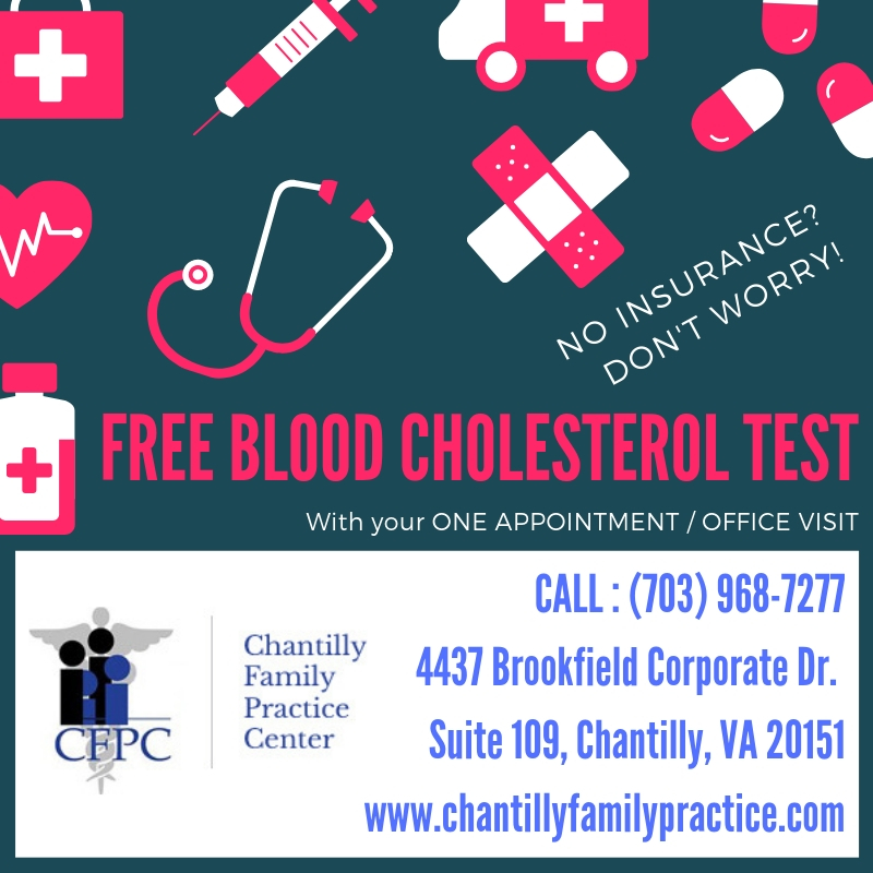NO INSURANCE DON'T WORRY ! FREE BLOOD CHOLESTEROL TEST