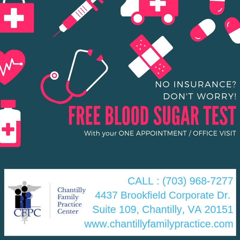 NO INSURANCE DON'T WORRY ! FREE BLOOD SUGAR TEST